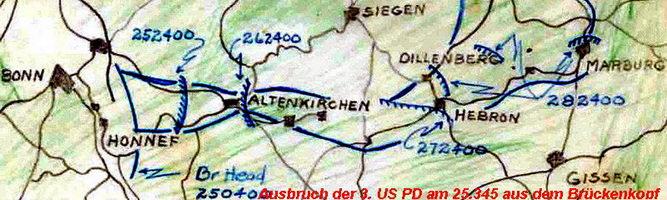 Ausbruch der 3. US Panzerdivision aus dem Brückenkopf von Remagen