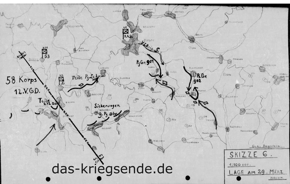 Lage am 29. März 1945