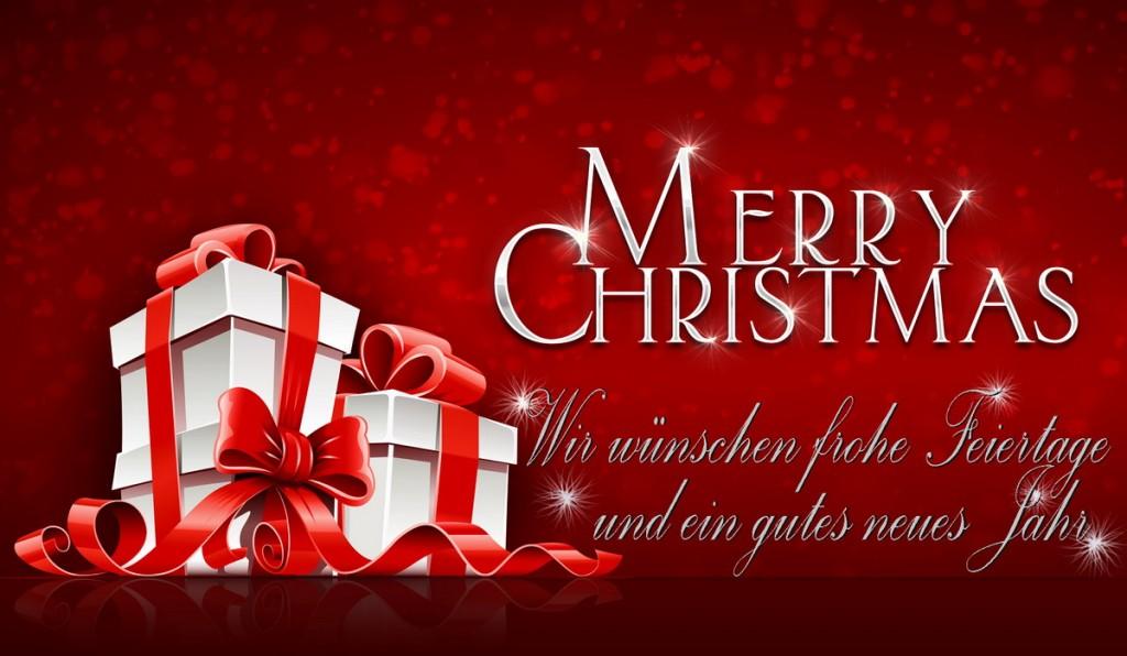 Wir wünschen Euch frohe Weihnachtsfeiertage und ein gutes neues Jahr!
