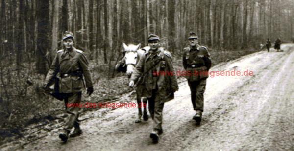 """Erich Becker, Angehöriger der 3. Pz.Gren.Div.: """"Rückmarch Ende März 1945 im Westerwald."""""""