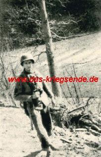 """Bild 14: Bill Parsons, Veteran der 78. US Infantry Division: """"Sergeant Babcock gehörte dem Vorkommando des 310th Infantry Regiments an. Das Regiment richtet seinen Stab im Bereich des heutigen Betzdorfer Bahnhofes ein."""""""