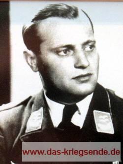 Oberleutnant Karl Heinz Peters. Im März 1945 unschuldig hingerichtet.