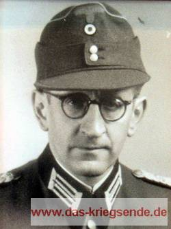 Major Herbert Strobel. Im März 1945 unschuldig hingerichtet.