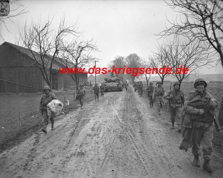 Vormarsch der amerikanischen Verbände am 6.4.1945 im Ruhrkessel