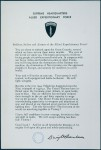 Ansprache Eisenhowers an die Soldaten des D-Days.