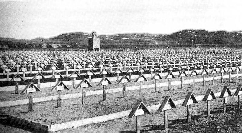 Parkkina-Petsamo, Soldatenfriedhof der 2. und der 3. Gebirgsdivision.
