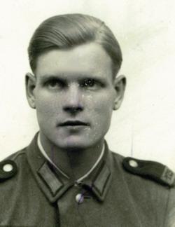 Johann-Josef Stentenbach als Rekrut in Niederlahnstein
