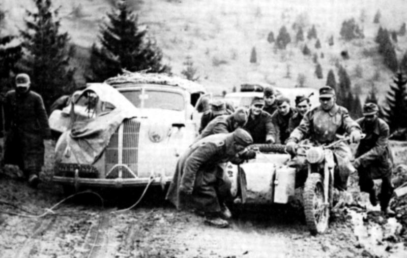 Rückmarsch deutscher Soldaten aus Griechenland