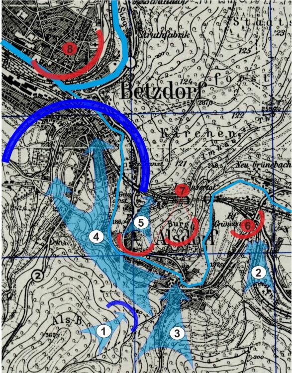 Die Eroberung Alsdorfs Ende März 1945.