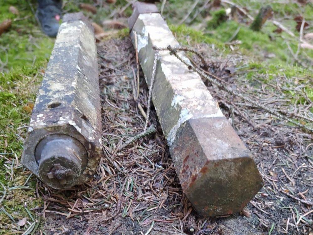 Die von Thomas Schneider in Brachbach entdeckten Stabbrandbomben.
