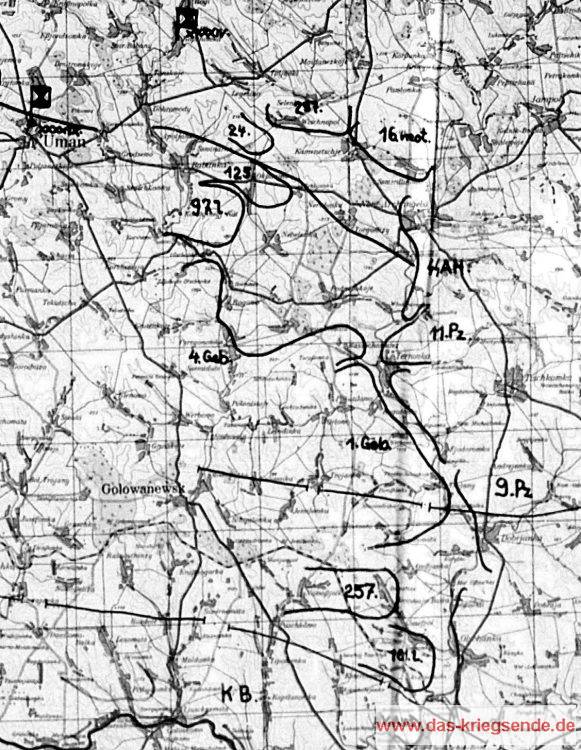 Lage am 6. August 1941